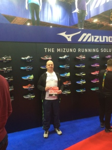 Posing in front of the Mizuno stand in my Mizunos!